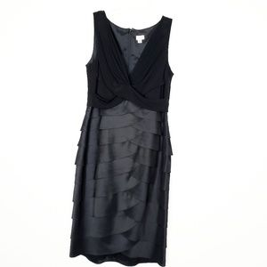 CACHE| Black Ruffled coctail dress